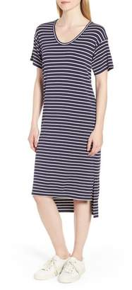 Nordstrom Signature High/Low Stripe Dress