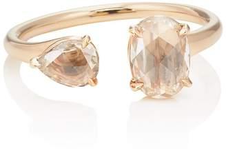 Monique Péan Women's Champagne Diamond Cuff Ring
