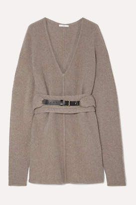 Co Oversized Belted Cashmere Sweater - Sand