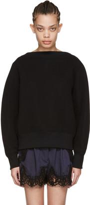 Sacai Black Tie Back Pullover $460 thestylecure.com