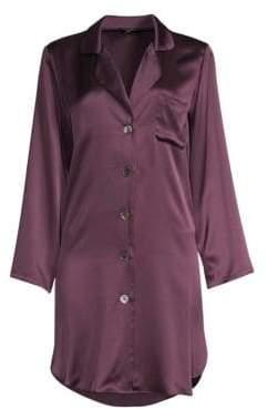Morgan Lane Curved Hem Silk Nightshirt