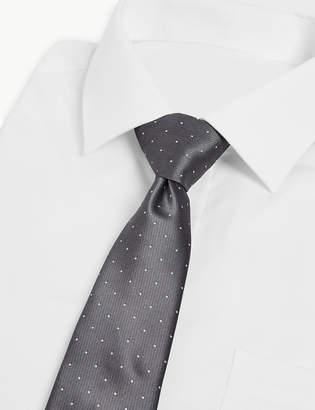 Marks and Spencer Skinny Twill Polka Dot Tie