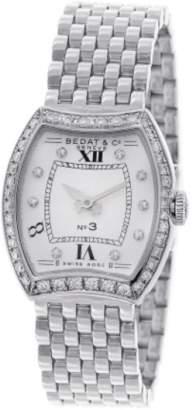 Bedat & Co No 3 Diamond Dial & Bezel Stainless Steel Womens Watch
