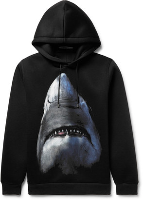Givenchy Cuban-Fit Shark-Print Scuba-Jersey Hoodie $1,350 thestylecure.com