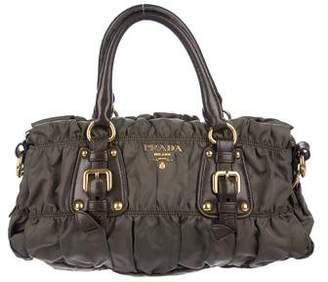Prada Nylon & Leather Satchel Bag
