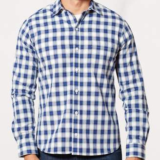 Blade + Blue Navy, Royal Blue & White Plaid Shirt - Max