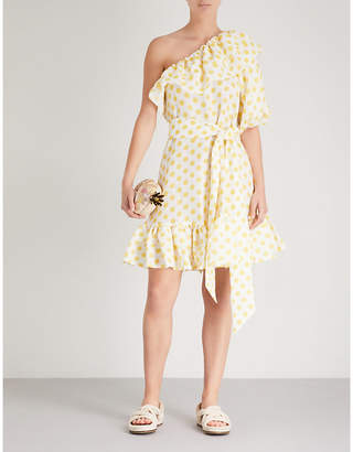Lisa Marie Fernandez Arden polka dot linen dress