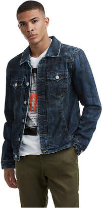 True Religion MENS DISTRESSED DYLAN DENIM JACKET