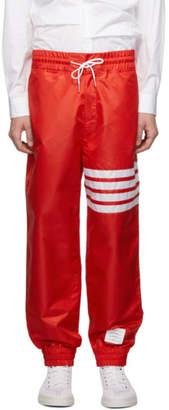 Thom Browne Red Ripstop 4-Bar Track Pants