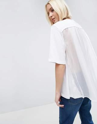 Asos Tulle Cape Back T-Shirt