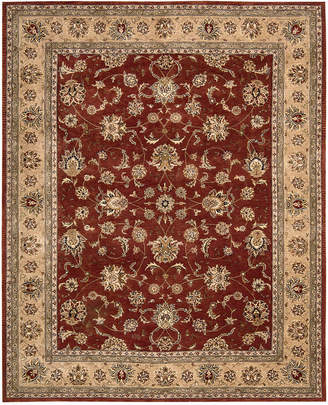 "Nourison Wool & Silk 2000 2203 Brick 7'9"" x 9'9"" Area Rug"