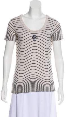 Tory Burch Initials Embroidered T-Shirt