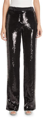 Michael Kors Straight-Leg Sequined Trousers