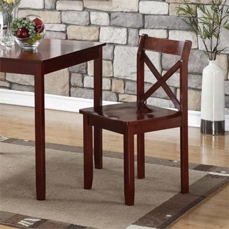 Boraam X-Style Back Jamie Dining Chair, Set of 2 Chairs,Cherry Wood Finish