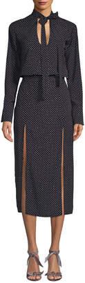 Alexis Noelle Polka Dot Midi Dress