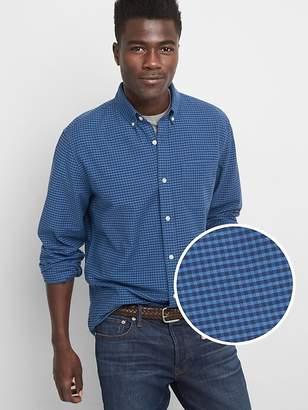 Pattern Oxford Shirt in Stretch