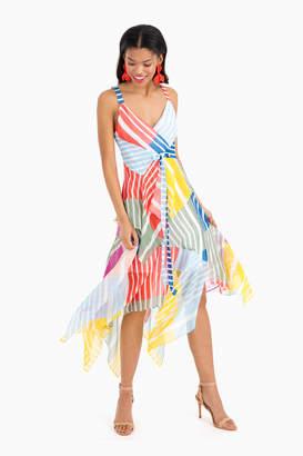 Tanya Taylor Colorblock Stripe Goldie Dress