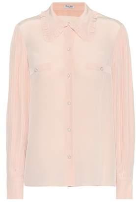 Miu Miu Embellished silk blouse