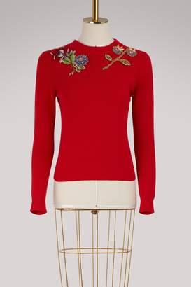 Alexander McQueen Wool embroidered sweater