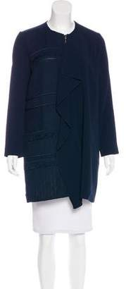 Roland Mouret Knee-Length Crepe Coat