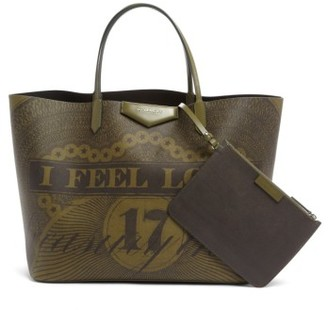 Givenchy Antigona Printed Shopper - Green $1,320 thestylecure.com