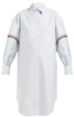 Thom Browne Oversized Cotton Oxford Shirtdress - Womens - Blue Multi