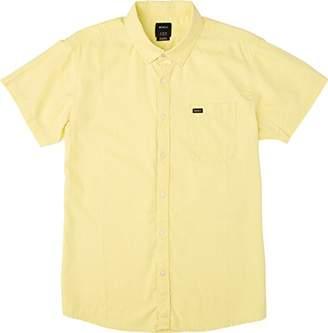 RVCA Men's Front Lawn Short Sleeve Woven Shirt