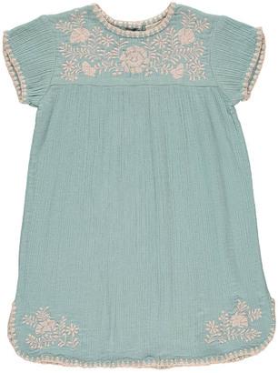 LOUIS LOUISE NoÃmie Embroidered Cotton Crepe Dress $106.80 thestylecure.com