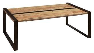 HomeFare Reclaimed Wood & Metal Cocktail Table