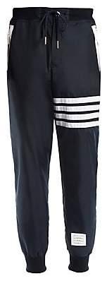 Thom Browne Men's Cashmere-Blend Stripe Sweatpants