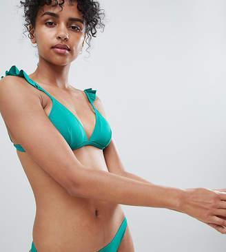 Monki tanga bikini bottoms in Green