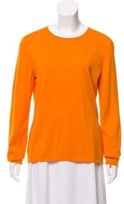 Oscar de la Renta Cashmere Crew Neck Sweater