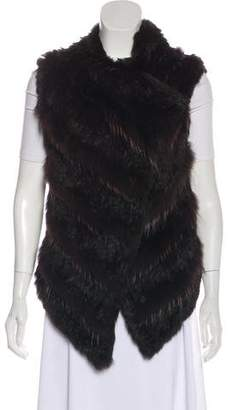 Barneys New York Barney's New York Fur Tiered Vest