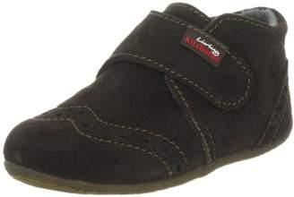 Living Kitzbühel Babyklettschuh Velour Slippers Unisex-Child Brown Size: