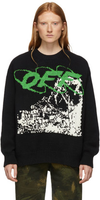 Off-White Off White Black and White Ruined Factory Sweater
