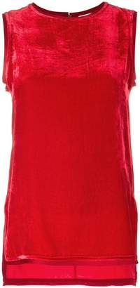 P.A.R.O.S.H. velvet sleeveless top