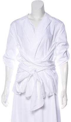 Camilla And Marc Long Sleeve Sash Tie Top