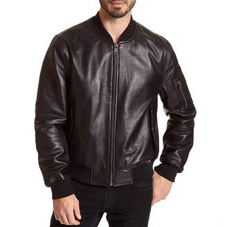 Excelled Leather Excelled Lambskin Bomber Jacket