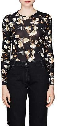 Off-White Women's Floral Jersey Bodysuit - Black