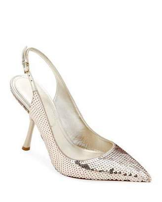 Valentino Sequined Slingback In-Heel Pumps
