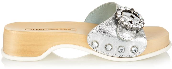 Marc JacobsMARC JACOBS Anita embellished leather clogs