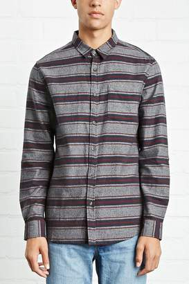 Forever 21 Slim-Fit Striped Cotton Shirt