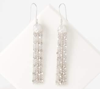 Sterling Silver Tassel Earrings by Silver Style