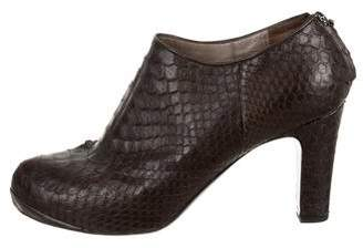 Devi Kroell Python Round-Toe Booties