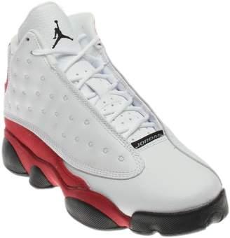 Nike Jordan Kids Air Jordan 13 Retro BG White/Black/True Red/Cool Grey Basketball Shoe Kids US