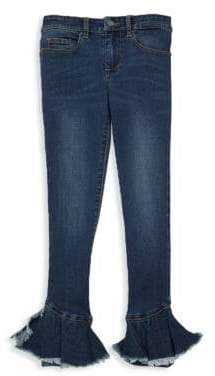 Blank NYC Girl's Ruffle Flare Jeans