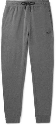HUGO BOSS Tapered Mélange Cotton-Blend Drawstring Sweatpants