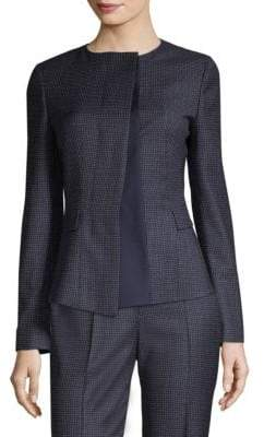 BOSS Mini Check-Print Suit Jacket