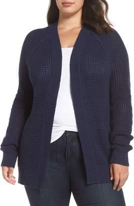 Caslon Braided Shoulder Cardigan