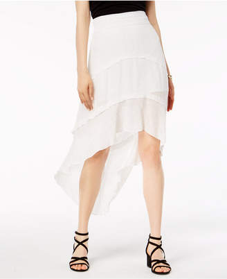 BCX Juniors' Faux-Tiered High-Low Skirt